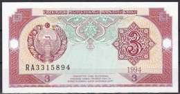 Uzbekistan:- 3 Sum/P.74 (1994):- UNC - Uzbekistan