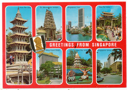 Greetings From Singapore, Multiview Postcard - Singapore