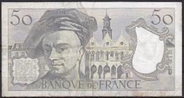 France:- 50 Francs/P.152b (1982):- F - 1962-1997 ''Francs''