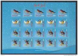 Feuille De Vignettes De Noël Des Iles Aland 2015 Neuve - Aland