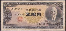 Japan:- 50 Yen/P.88 (1951):- F - Japan