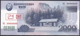 Korea/D.P.R.K - 2000 Won - P.65S (2008/Specimen) - UNC - Korea, North