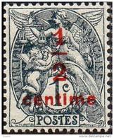 France Blanc - N°  157 * Type Surchargé 1/2 C Sur 1ct. Gris-noir Ici Le Type I - 1900-29 Blanc