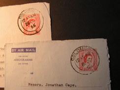 Ceylon 2 Aerogrammes 1958 - Sri Lanka (Ceylon) (1948-...)