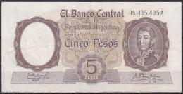 Argentina:- 5 Pesos/P.275c (Fabregas/Delfino):- VF+ - Argentine