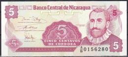Nicaragua:- 5 Centavos/P.168 (1991):- UNC - Nicaragua