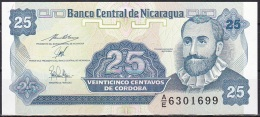 Nicaragua:- 25 Centavos/P.170 (1991):- UNC - Nicaragua