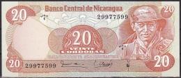 Nicaragua:- 20 Cordobas/P.135 (1979/Series E):- A-UNC - Nicaragua