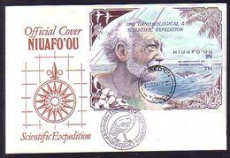 Tonga Cover - S/S Ovptd 1991 Ornithological Expedition - Study Of Megapode Bird - Tonga (1970-...)