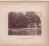 Photo Collée Sur Carton : Joinville Le Pont (94) , Le Restaurant Jullien  Superbe Cliché De 1896   + Barque De Passage - Places