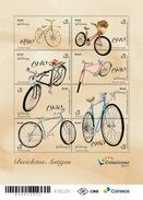 BRAZIL 2017 -  OLD  BICYCLES   -  MINI SHEET OF 8 V  + FREE EDICT  - MINT - Brésil