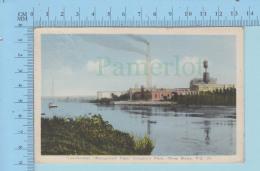 Trois-Rivieres Quebec Canada  -Wayagamack Paper Company's Plan - Post Card Carte Postale - Trois-Rivières
