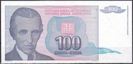 Yugoslavia:- 100 Dinara/P.139 (1994/Without Serial No.):- UNC - Yugoslavia