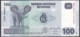 Congo/Democratic Rep:- 100 Francs/P.98a (2007/Giesecke & Devrient):- UNC - Congo