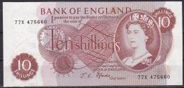 UK/Bank Of England:- 10 Shillings/P.373c (Fforde):- A-UNC - 1952-… : Elizabeth II