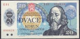 Czechoslovakia:- 20 Korun/P.95 (1988):- A-UNC - Tsjechoslowakije
