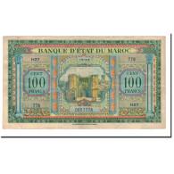 Maroc, 100 Francs, 1943, 1943-05-01, KM:27A, TTB - Maroc