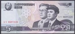 Korea/D.P.R.K:- 5 Won/P.58 (2002):- UNC - Korea, North