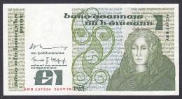 Ireland:- 1 Pound/P.70b (Murry/O'Cofaigh/1978):- VF+ - Irlanda