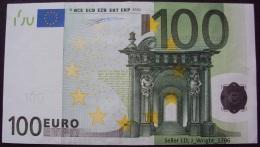 European Union:- 100 Euro/P.5t (Prefix T Ireland/Duisenberg):- EF - 100 Euro