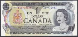Canada:- 1 Dollar/P.85a (Engraved Back/Lawson/Bouey):- A-UNC - Canada