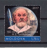 Moldova 2017 160th Anniversary Of The Birth Of Tsiolkovsky Personalized Stamp MNH - Moldova