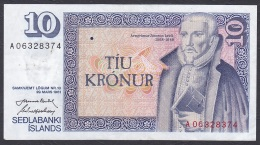 Iceland:- 10 Kronur/P.48 (Nordal/Hjartarson):- VF - Iceland