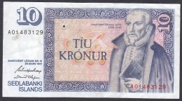 Iceland:- 10 Kronur/P.48 (Hjartarson/Olafsson):- VF - Islande
