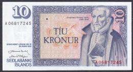 Iceland:- 10 Kronur/P.48 (Nordal/Olafsson):- A-UNC - Islande