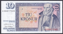 Iceland:- 10 Kronur/P.48 (Nordal/Olafsson):- A-UNC - Iceland