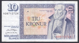 Iceland:- 10 Kronur/P.48 (Olafsson/Nordal):- VF - Iceland