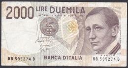 Italy:- 2000 Lire/P.115 (1990):- F - [ 2] 1946-… : Républic