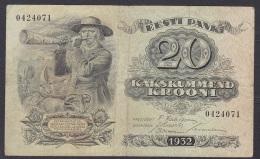 Estonia:- 20 Krooni/P.64 (1932):-  VG - Estonia