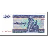 Myanmar, 10 Kyats, 1997, Undated (1997), KM:71b, NEUF - Myanmar