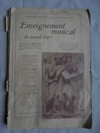 Ancien Livre Enseignement Musical Du Second Degré Par Maurice Chevais 1942 - Música & Instrumentos