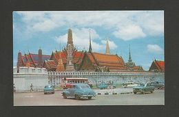 THAILAND EMERALD BUDDHA TEMPLE  BANGKOK BUS BUSES  Cars 1960s  Asia China Z1 - Postcards