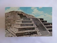 MEXICO SAN JUAN TEOTIHUACAN MOON PYRAMID ARCHAEOLOGICAL ZONE 1960 YEARS PC Z1 - Postcards