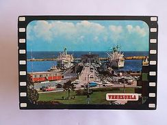 VENEZUELA PORT LA GUAIRA & BOAT BOATS SHIP SHIPS & CAR CARS 1960 YEARS PC Z1 - Postcards