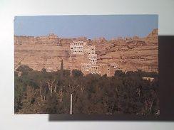 ADVERT TOURISM POSTCARD YEMEN ASIA ASIE WADI DHAR ROCK PALACE 1960 YEARS Z1 - Postcards