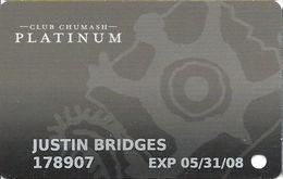 Chumash Casino - Santa Ynez, CA - Platinum Slot Card - Casino Cards