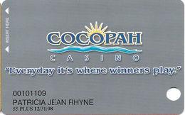 Cocopah Casino - Somerton, AZ - Slot Card - Casino Cards