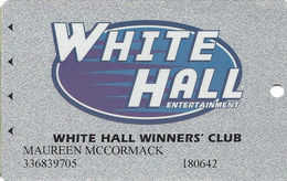 White Hall Gaming Center Silver Card From Alabama - Casino Cards