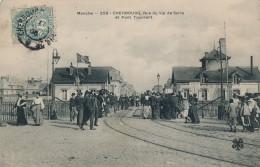 G136 - 50 - CHERBOURG - Manche - Rue Du Val De Saïre Et Pont Tournant - Cherbourg