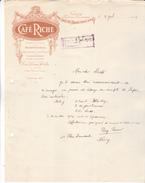 54 Nancy- Café RICHE ,8 Rue St Jean & Rue Des Carmes.. Lettre çillustrée De 1914. Tb état. - 1900 – 1949