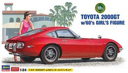 Toyota 2000GT W/60's Girl's Figure 1/24 ( Hasegawa ) - Cars