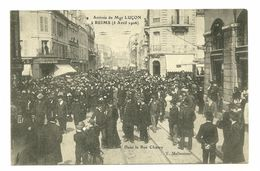 51 REIMS RUE CHANZY RELIGION EVEQUE LUCON AVRIL 1906 MARNE - Reims
