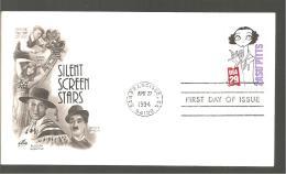 FDC 1994 SILENT SREEN  STARS - 1991-2000