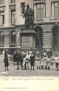 Liège - Statue André Dumont Et L'entrée De L'université (animée, Wilhelm Hoffmann, 1904) - Liege