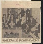 1974 UAE AL Sayed Khalifa Foreign Minister Picture News Paper Piece - Dubai