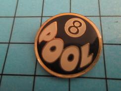 Pin1010  Pin's Pins / Rare Et De Belle Qualité SPORTS / BILLARD BOULE 8 POOL - Billiards